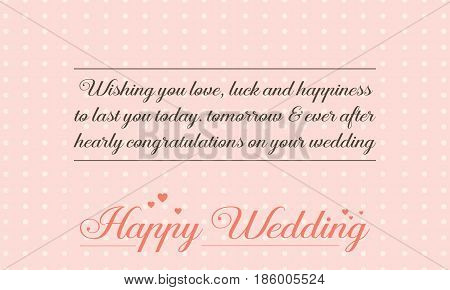 Collection stock of wedding greeting card simple style vector