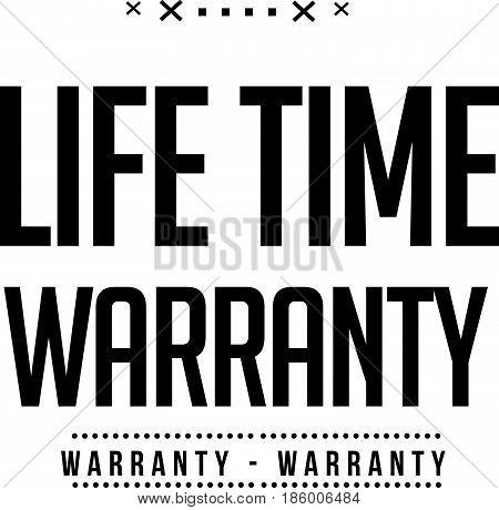 lifetime warranty vintage grunge black rubber stamp guarantee background