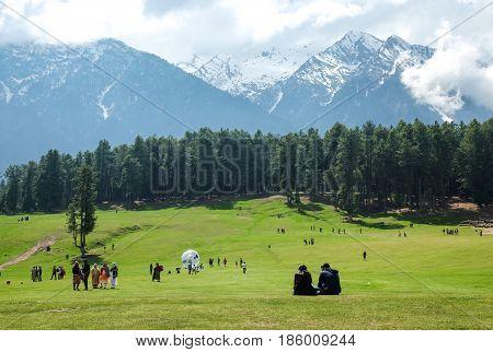 Pahalgam Valley in Jammu and Kashmir India