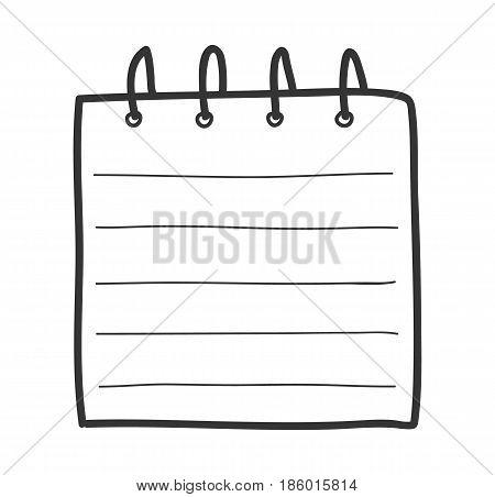 notebook hand drawn line art cute vector illustration