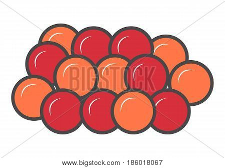 Red caviar icon isolated vector illustration. Japanese delicious seafood, traditional asian culinary, diet healthy food pictogram.