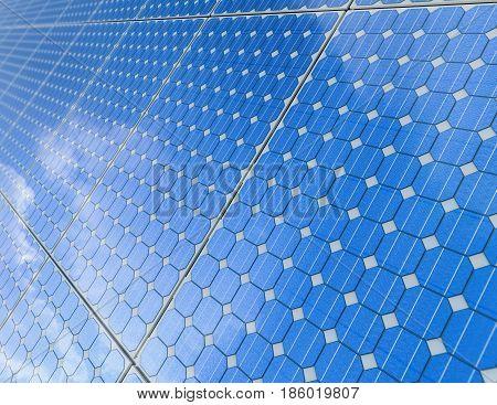 3d rendering solar panel or solar cells background