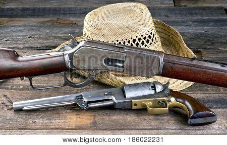 Antique guns that won the wild west.