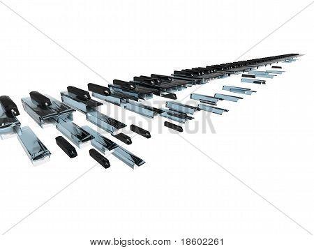 Wave Of Long Keybord
