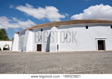 Bullring of Ronda, Andalusia, Spain. Its construction started in 1779 and finished in 1785