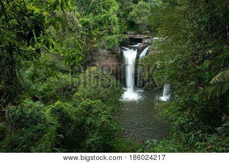 Haewsuwat waterfall at Khao Yai National Park Thailand (The World Heritage of nature)