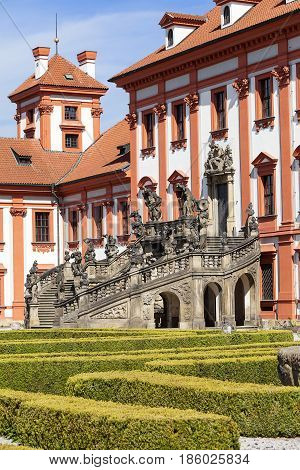Troja Palace in sunny day Prague Czech Republic Europe