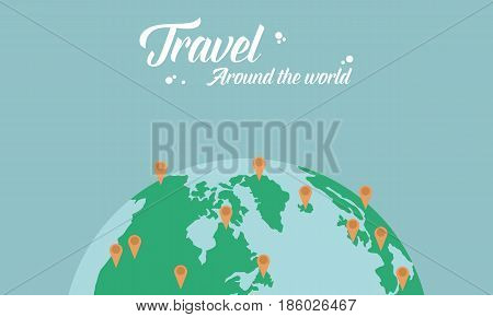 Travel around the world vector illustration stock