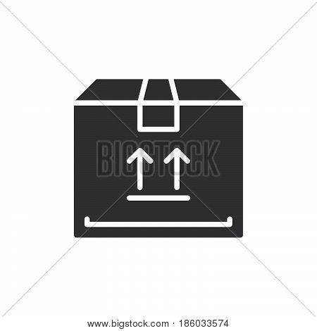 Parcel box icon vector filled flat sign solid pictogram isolated on white. Symbol logo illustration. Pixel perfect