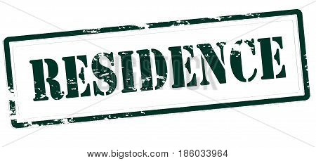 Stamp with word residence inside vector illustration