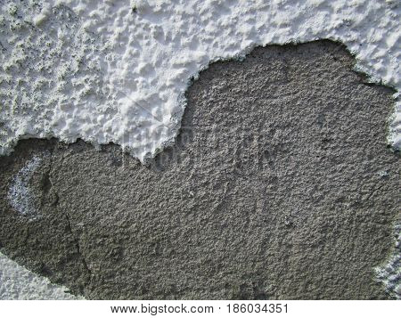 Wall. Plaster/ The finishing layer formed by the solidified building mixture, as well as the mixture itself