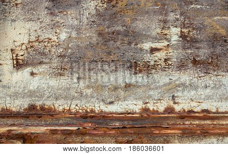 Abstract and corroded colorful rusty metal background