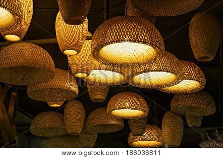 Decorative lighting along Kuanzhai Alleys in Chengdu Sichuan province China