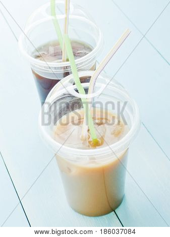 Coffee In Plastic Glass