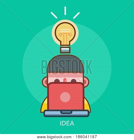 Idea Conceptual Design | Great flat illustration concept icon and use for technology, Business, Creative Idea, Concept and much more.