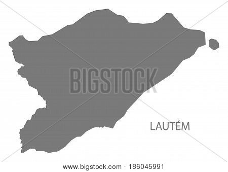 Lautem East Timor Map Grey Illustration Silhouette