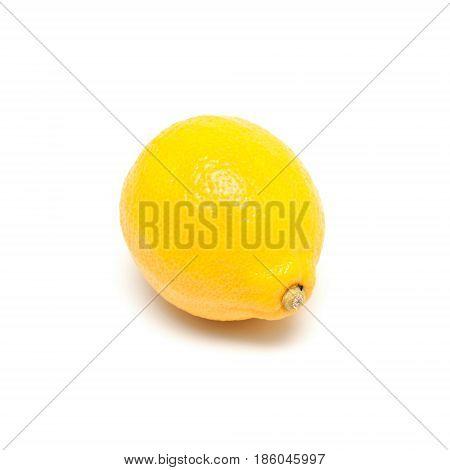 Single lemon isolated a on white background