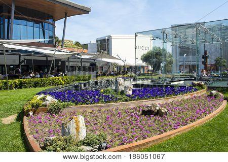 ISTANBUL TURKEY - APRIL 30 2017: Istinye Park - luxury turkish shopping mall with prestigious boutiques Istanbul Turkey April 30 2017