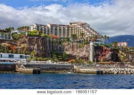 seafront in Funchal, Madeira island, Portugal view