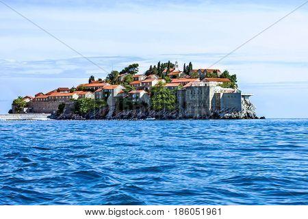 Island of Saint Stephen, Budva, Adriatic sea, Montenegro