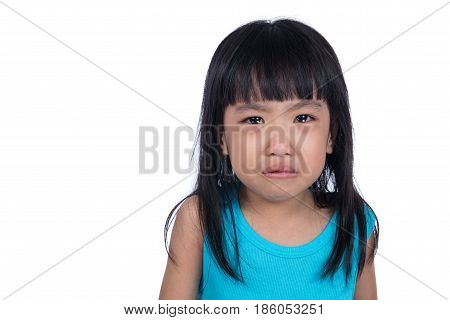 Crying Asian Chinese Little Girl