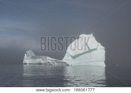 Beautiful view of icebergs in Antarctica, global warming and climate change concept