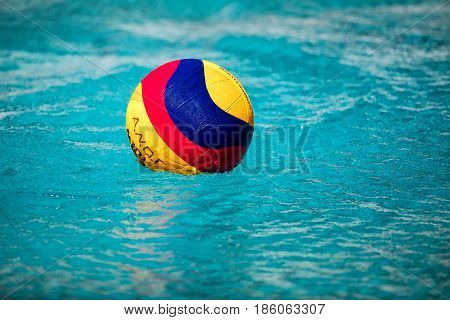 Water Polo Ball Floating On The Wate