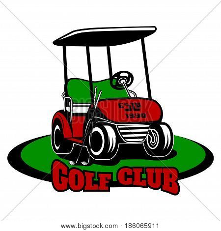Vector logo golf club on a white background, for design, different types of print, and use on the Internet.