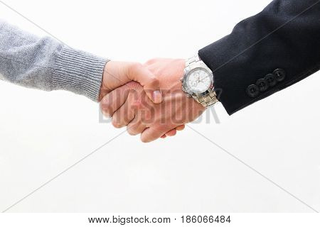 A Man And A Woman Shake Hands