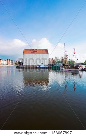 island Olowianka in old town of Gdansk, Poland