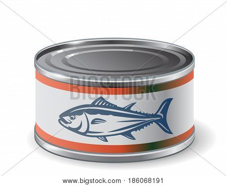 vector design template packing can of salmon