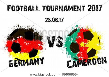 Banner Football Match Germany Vs Cameroon
