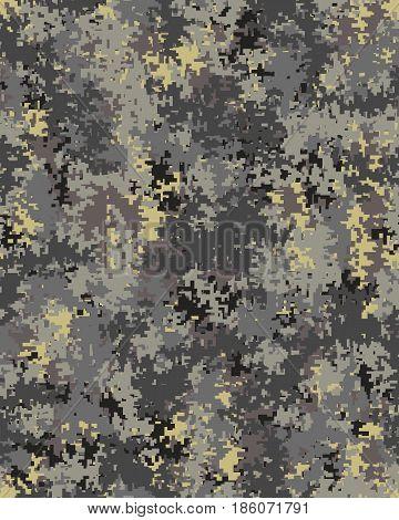 Digital fashionable camouflage pattern, fashion design. Seamless illustration