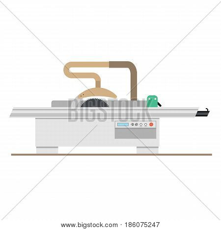 Vector flat isolated sawing machine with movable table and protective cover for the manufacture of furniture