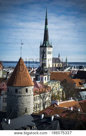 Tallinn capital of Estonia in the Baltic