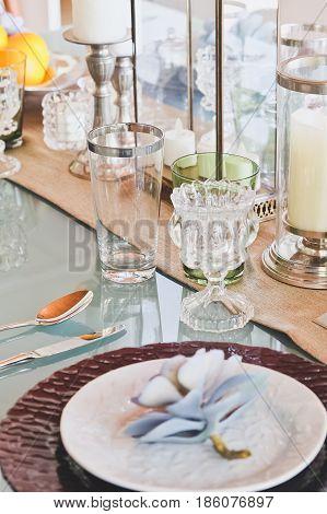 Detail  image of Elegant dining table setting