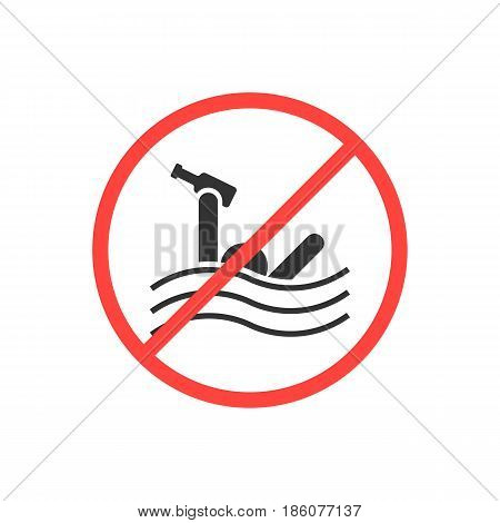 sign prohibiting swimming drunk. concept of rescuer help, alcoholic, prohibition, addiction, restrict accident. isolated on white background. flat style trend modern logo design vector illustration