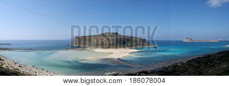beach of balos in crete in greece