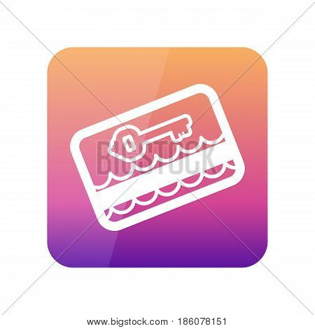 Electronic keycard outline vector icon. Key card. Travel. Summer. Summertime. Holiday. Vacation eps 10