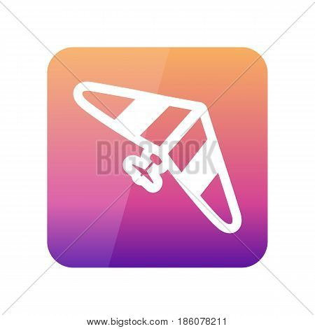 Hang Glider outline vector icon. Travel. Summer. Summertime. Holiday. Vacation eps 10