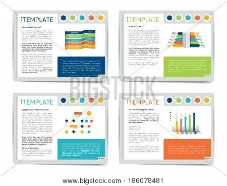 Slide business templates. Infographics for leaflet, poster, slide, magazine, book, brochure, website, print.