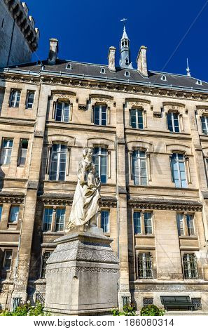 Marguerite of Angouleme statue at the city hall of Angouleme - France, Charente