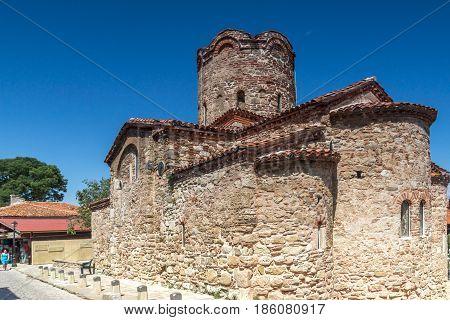 NESSEBAR, BULGARIA - 30 JULY 2014: Church of St. John the Baptist in the town of Nessebar, Burgas Region, Bulgaria