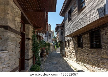 NESSEBAR, BULGARIA - 30 JULY 2014: Steet in old town of Nessebar, Burgas Region, Bulgaria
