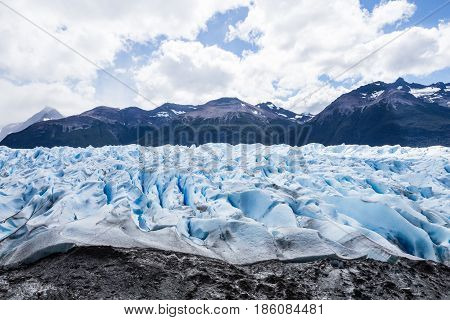 View of Perito Moreno Glacier from Argentina's Los Glaciares National Park
