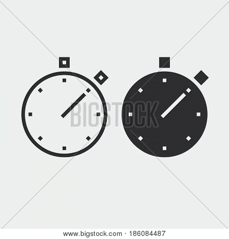 stop watch icon isolated on white background .