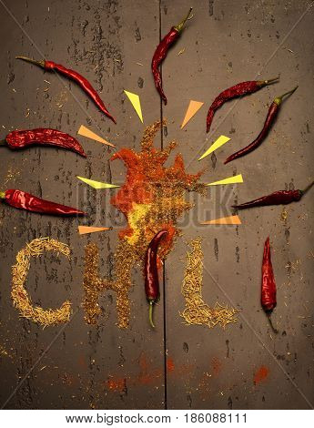 Chili Word And Spices