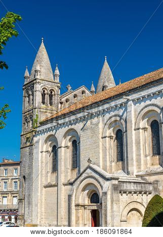 Saint Peter Cathedral of Angouleme built in the Romanesque architectural style - France, Charente