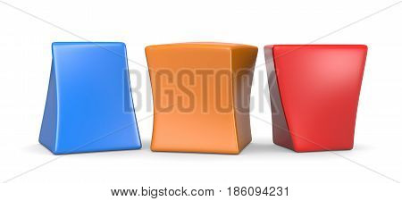 Three Colorful Blank Funny Cubes
