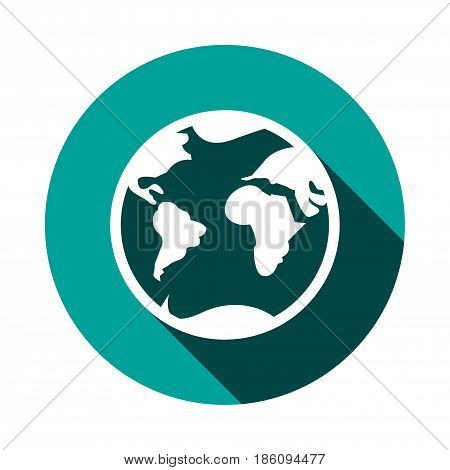 Earth icon stock vector illustration flat design
